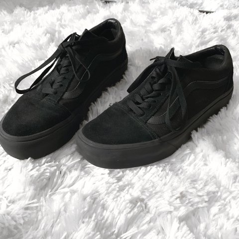 ff22b3defd98e @suspensing. 12 days ago. Portland, United States. Black Vans Old Skool  Platform Shoes