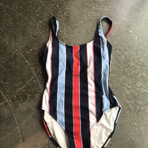 9900a7bc15 @shcouni. 4 days ago. Milwaukee, United States. Tommy Hilfiger vertical  striped one piece swim suit ...