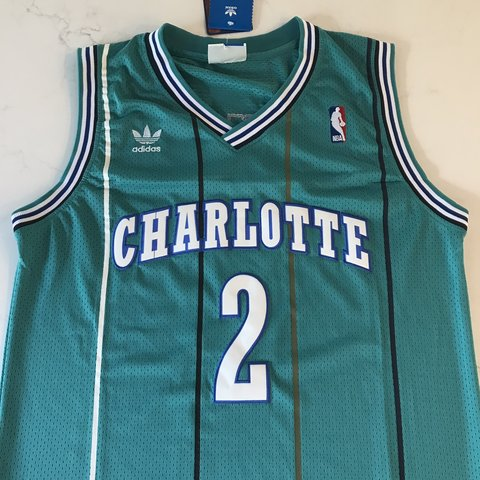 087f57559 @jersey_cvltvre. 3 days ago. New Albany, United States. Larry Johnson  Charlotte Hornets Teal Throwback Jersey