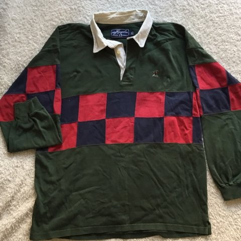 f3cc7ab52a9 CLASSIC VINTAGE LONG SLEEVE RUGBY SHIRT GOLFER EMBROIDERED - Depop