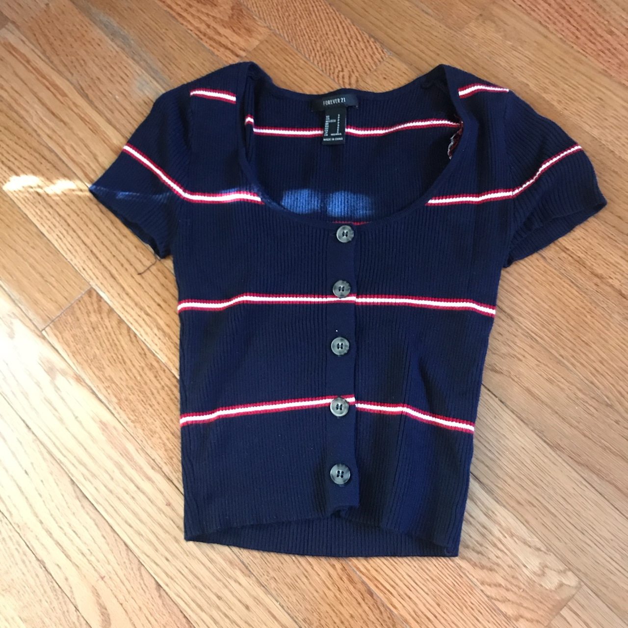 Product Image 1 - Cute striped button up crop