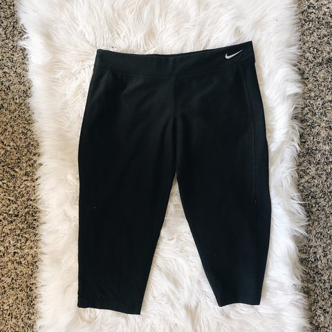 c831b2cb60a60a shipping: $4.75 Black Capri workout Nike dri fit leggings - Depop