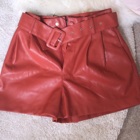 4ff825a49e1d98 @biancaporterx. 2 days ago. Halifax, United Kingdom. Sold out burnt orange  faux leather shorts. Zara size M Never been worn ...