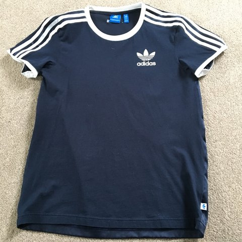 f048e9e1ffd12f adidas, size 6 but oversized so would fit an 8 navy blue and - Depop