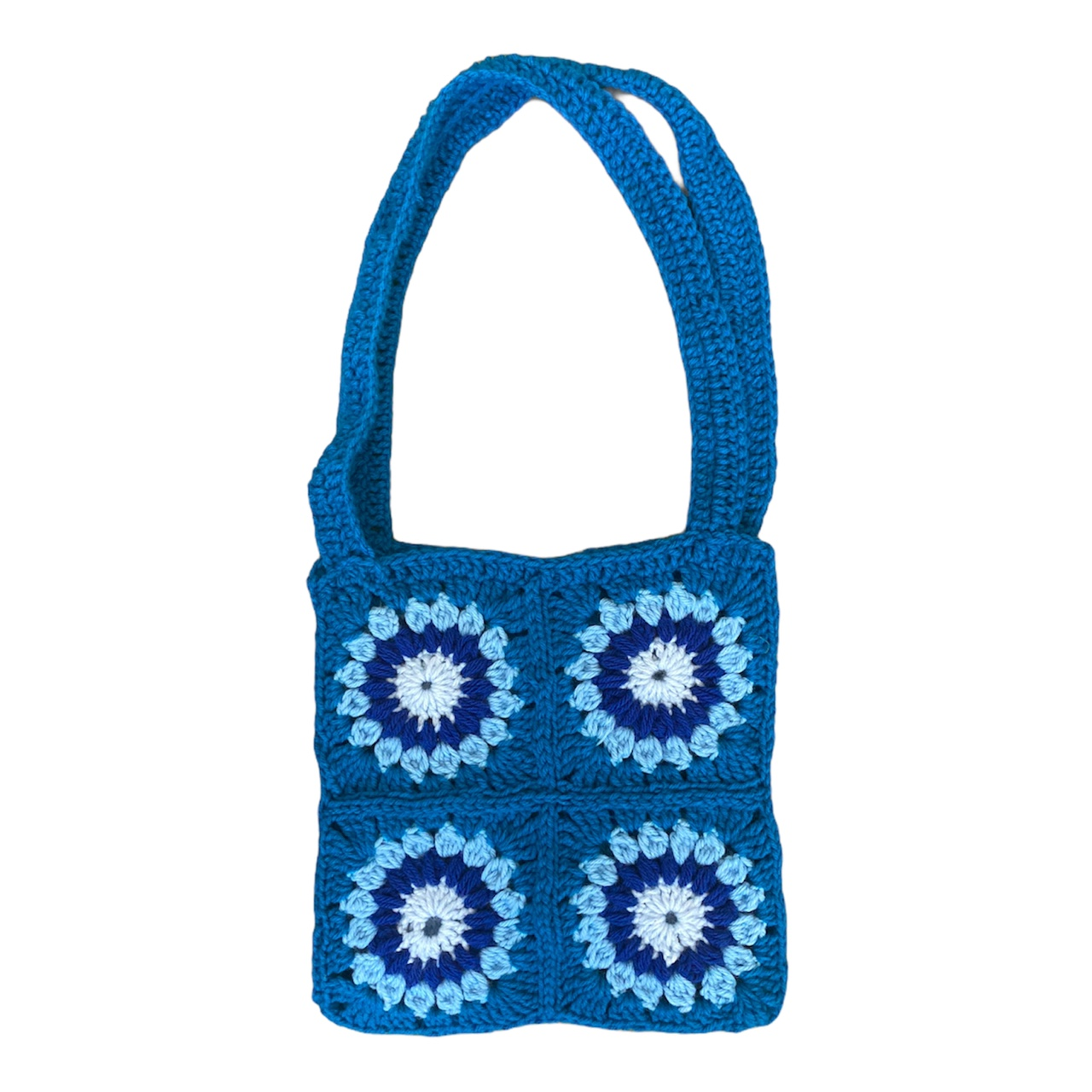 Product Image 1 - Handmade crochet bag 💙🦋🐟🌀  🧿dimensions are