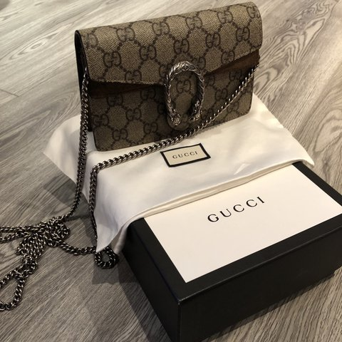 f17e0bf28ea @unitluxe. 8 days ago. London, United Kingdom. Authentic Gucci Dionysus  Supreme GG Super Mini Bag .