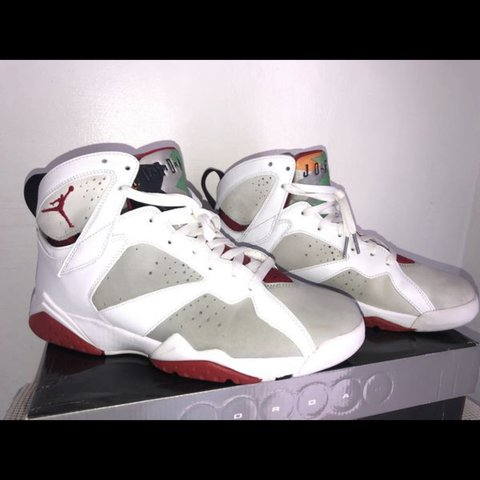 9d46c13e81f These Retro Air Jordan 7 appears in the classic 'Hare' a by - Depop