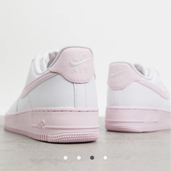 Nike Air Force 1 '07 Brick trainers in white/pink... - Depop