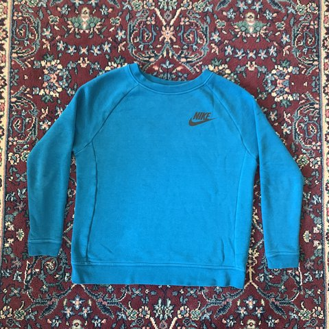c99181cf1026 nike crewneck/ blue/perfect condition/ shipped for #adidas - Depop