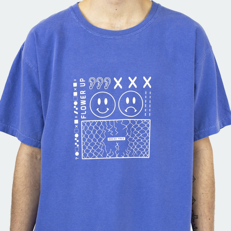 Product Image 1 - Festival Rave Washed Out Blue