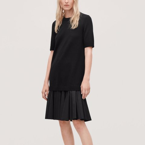 bc615c7d8 @thestylesketchbook. 2 days ago. United States. COS paneled knit cotton  dress.