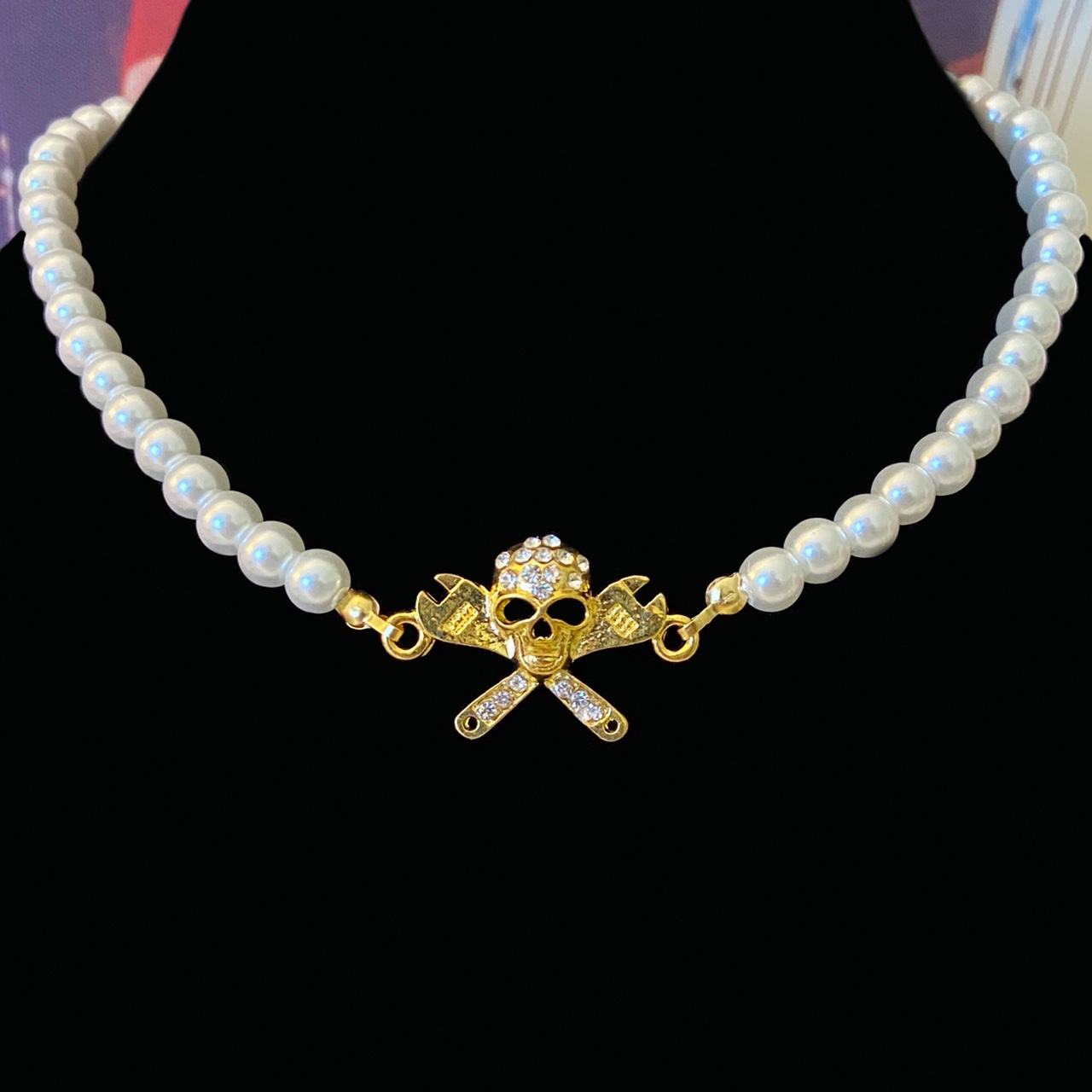 Product Image 1 - New! Y2K pearl necklace with