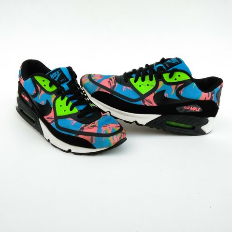 sneakers for cheap 91d41 a8625  90sinatlanta. in 3 hours. Georgia, US. Nike Men s Size 12 Air Max 90 Prem  Tape Color Camo Blue Black Flash Lime Atomic Red