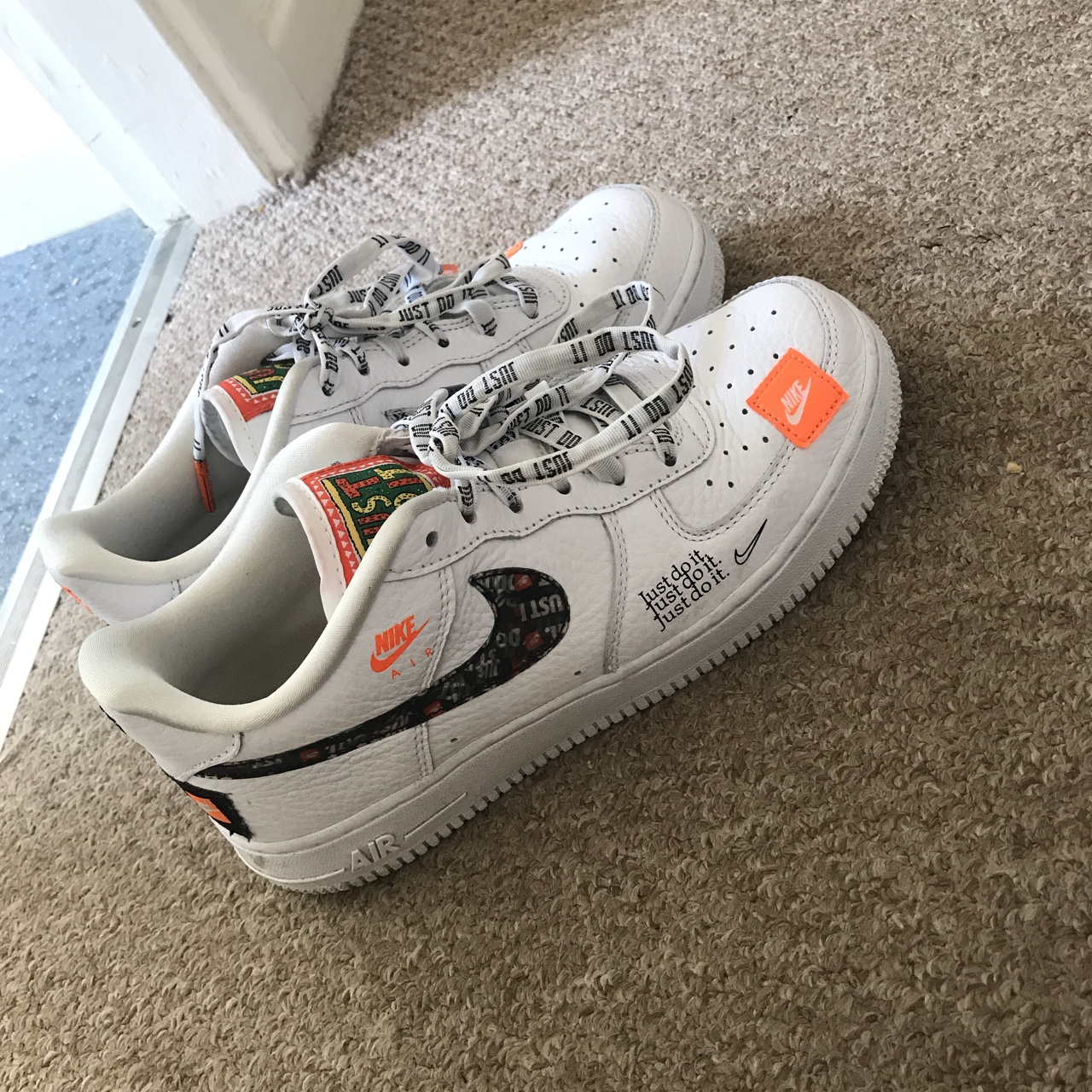 Limited edition Nike Air Force 1 - just do it... - Depop