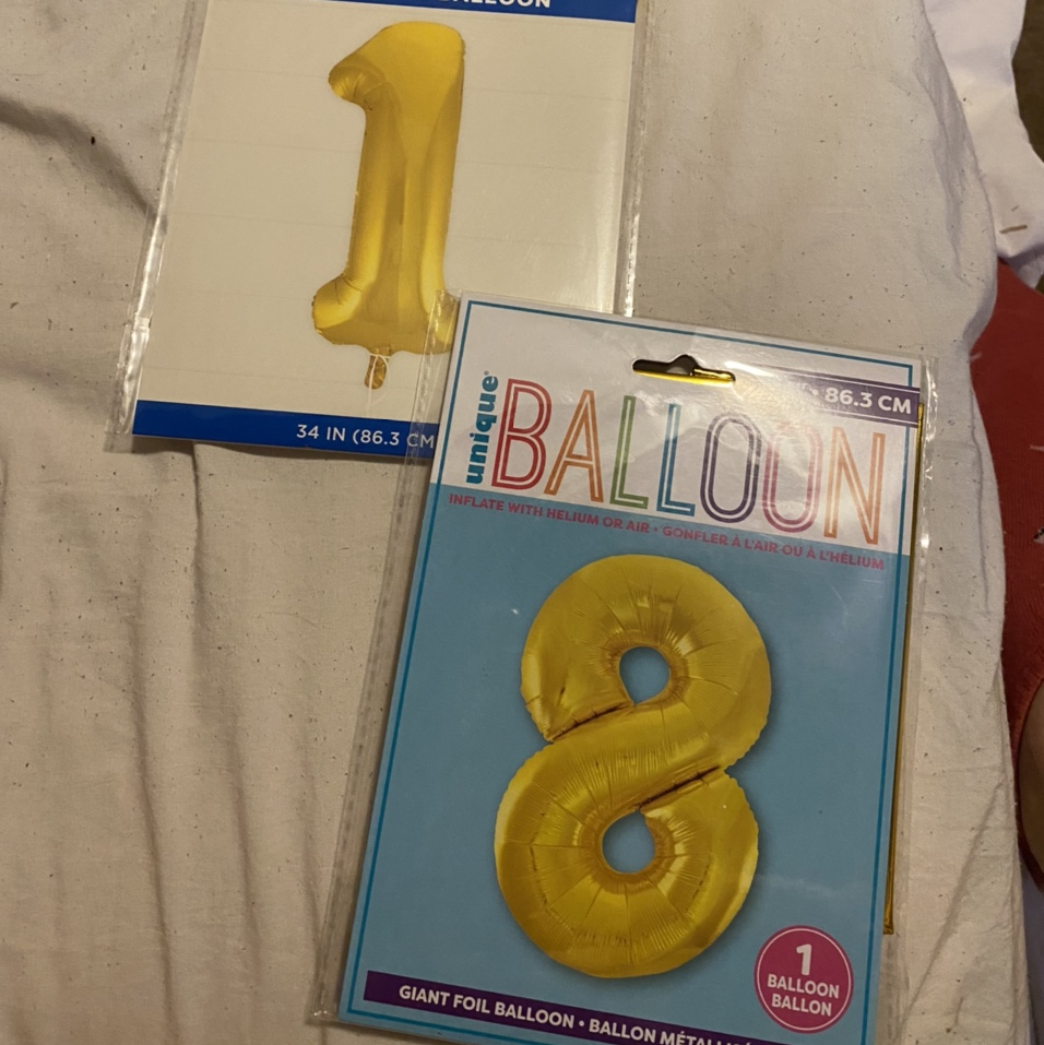 """Product Image 1 - """"1"""" and """"8"""" balloons!!💙 ~• - never"""