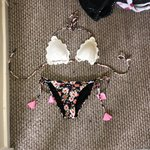 584c2bdff7e Floral bikini with crochet detail
