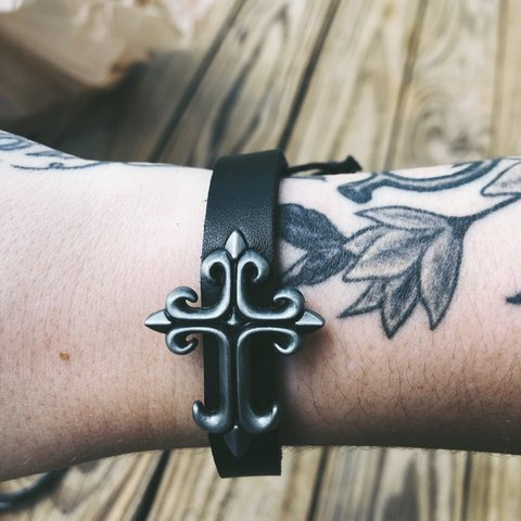 Gothic Cross Bracelet Tattoos Alternative Goth Depop