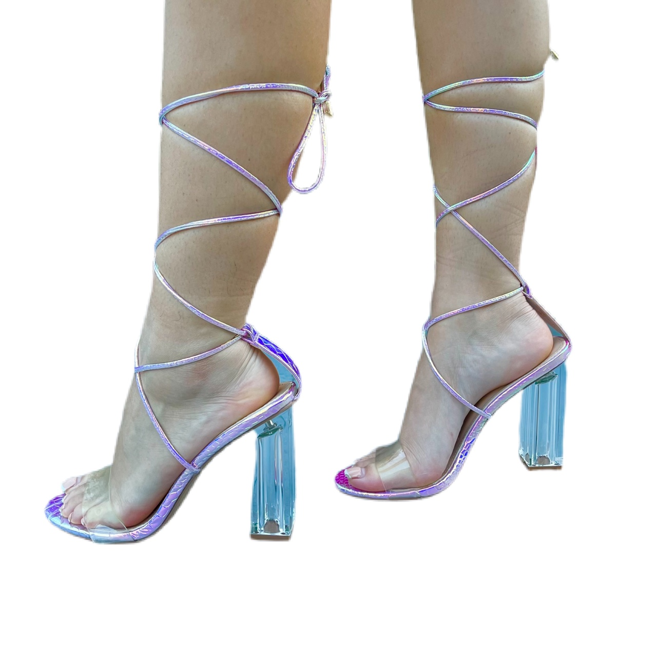 Product Image 1 - Snake Holographic Clear Heel Block