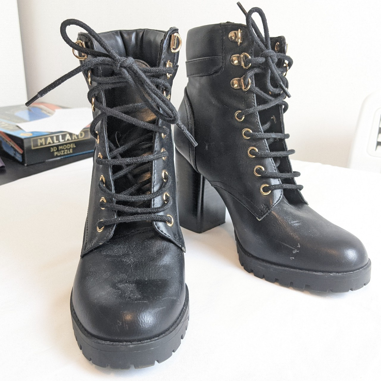 Product Image 1 - Primark lace-up ankle boots. 4 inch