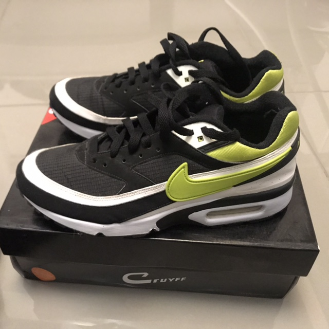 Nike air max 91 classic bw, lime green and black... - Depop