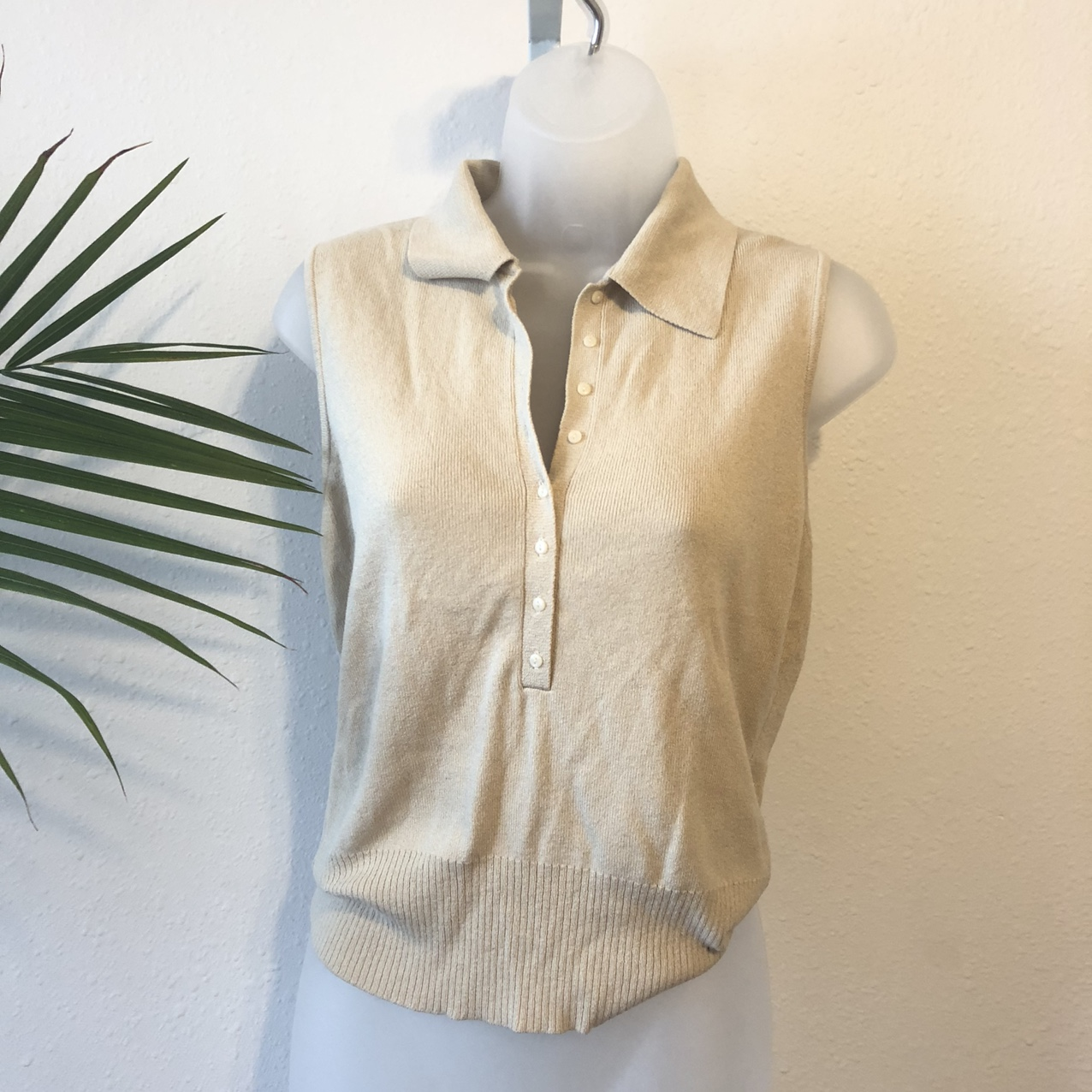 Product Image 1 - Nude Knit Sleeveless Top  Cute little