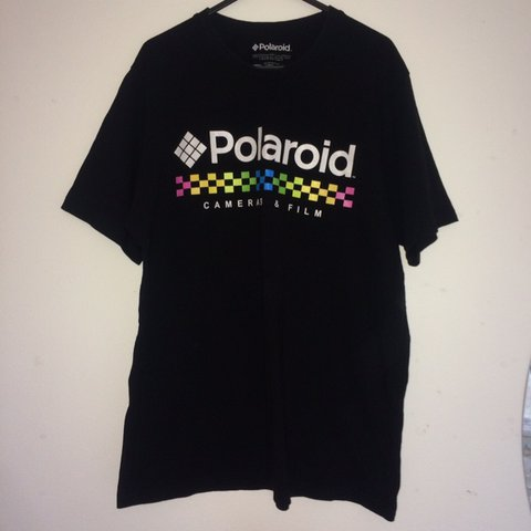 f3e2d862b pull and bear Polaroid t-shirt - great condition - size - Depop