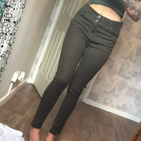 0bef679e70c6 @cherellesshop. 19 days ago. Bristol, United Kingdom. Green high waisted  jeans 💕 Never been worn perfect condition ...