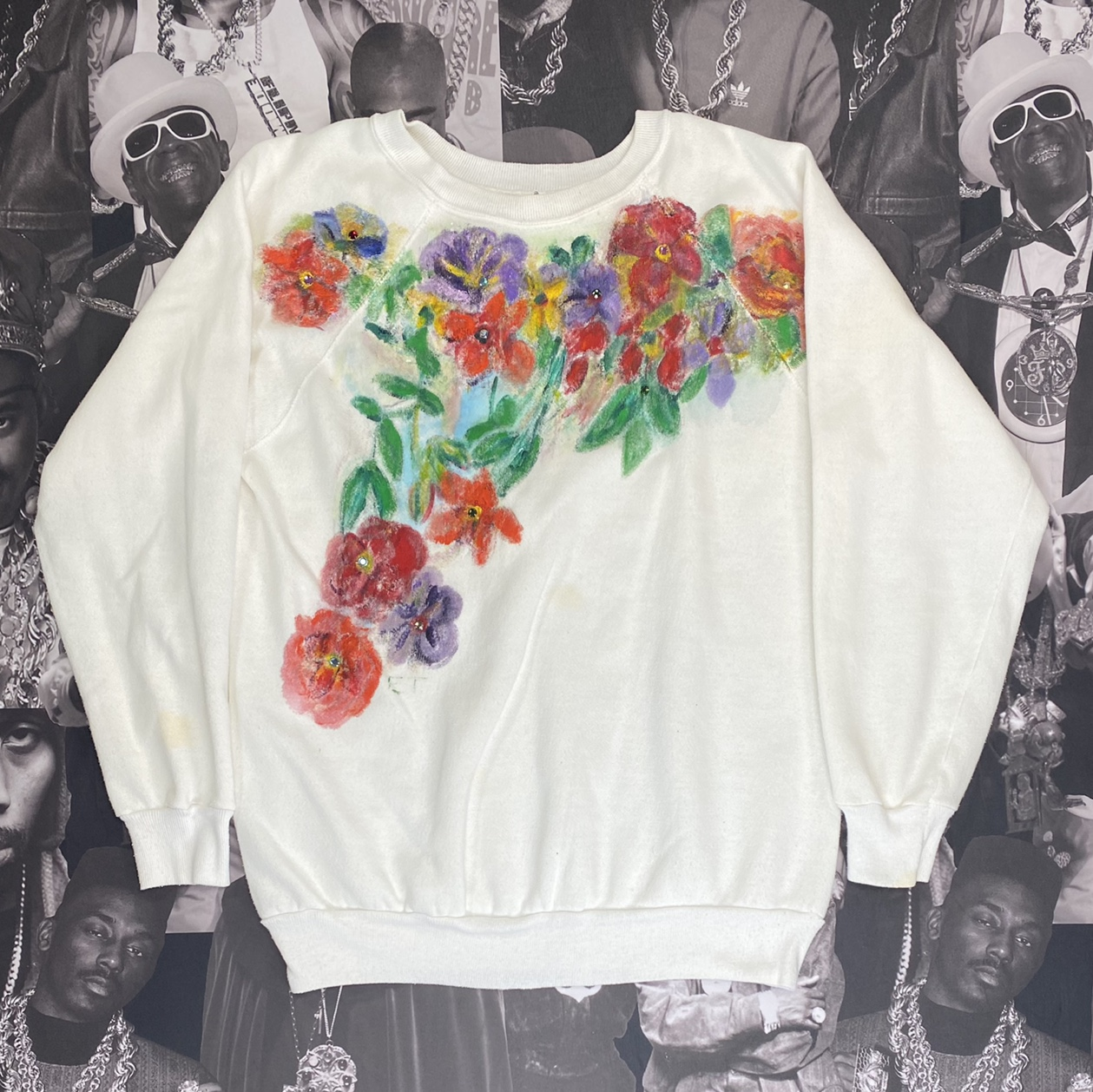 Product Image 1 - Women's white hand painted floral