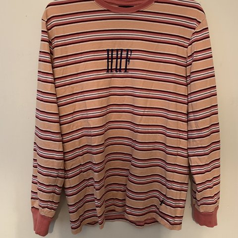 b191166ca6 Huf Striped l/s 9/10 condition Cool piece Dm before buying - Depop