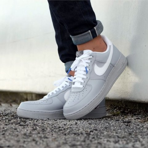promo code db4fc 79325 NEW MENS Nike Air Force 1 wolf grey size 12.5 Built with of - Depop