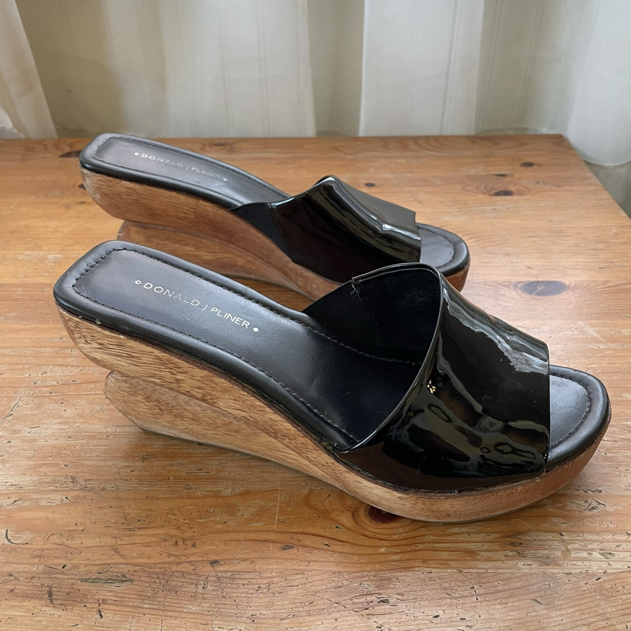 Product Image 1 - Black wedges  Patent leather  Y2K