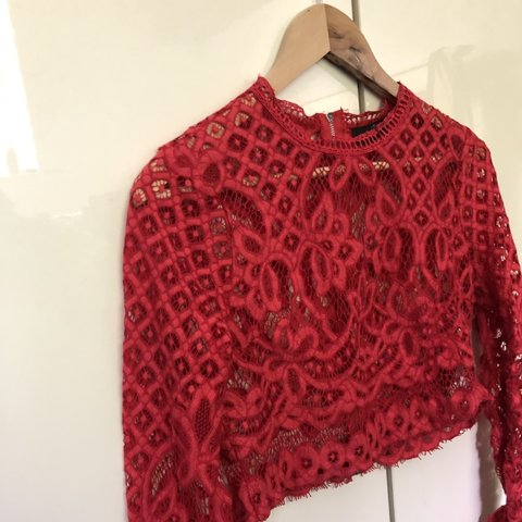 4ed72f39a71 @ellharrisonnnn. 6 days ago. Leigh, United Kingdom. Misguided cropped red  lace top. Great for going out! Size 12. Tags; Depop sell ...