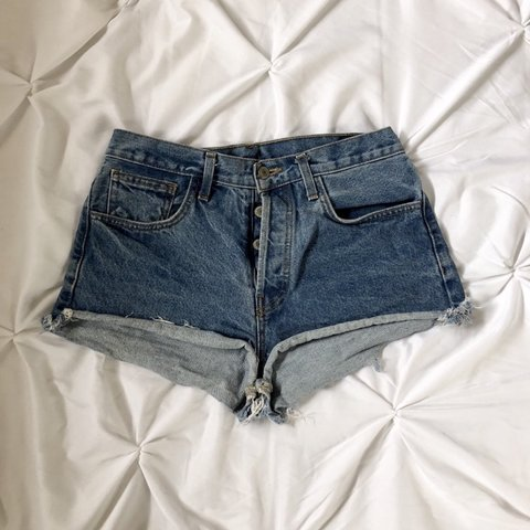 32ad38621d @jackiecat32. in 19 hours. Los Angeles, United States. Brandy melville high  rise jean shorts. Good condition
