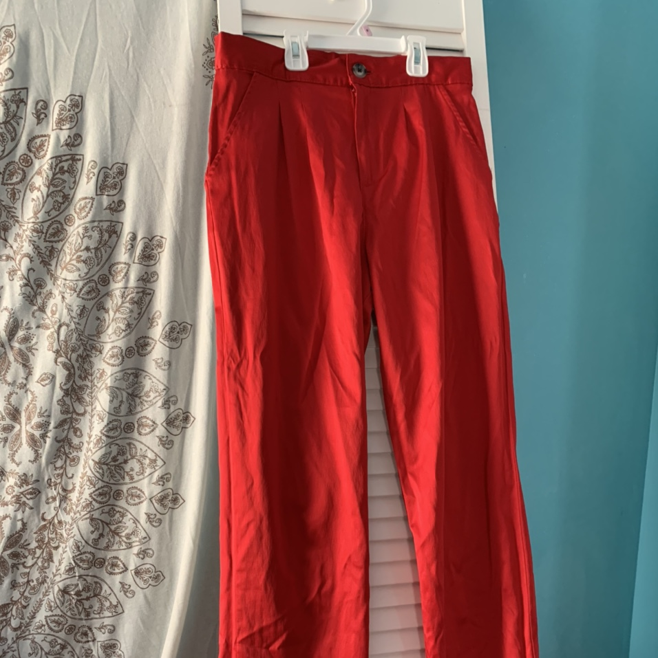 Product Image 1 - Red Satin Pants Urban Outfitters