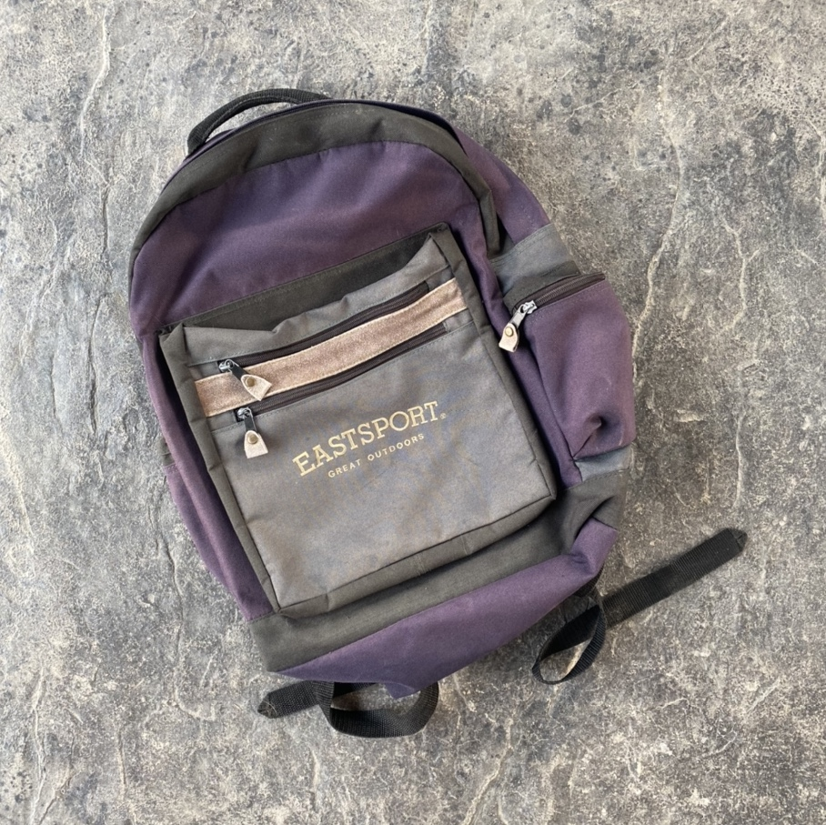 Product Image 1 - 90s Eastsport Backpack Purple and