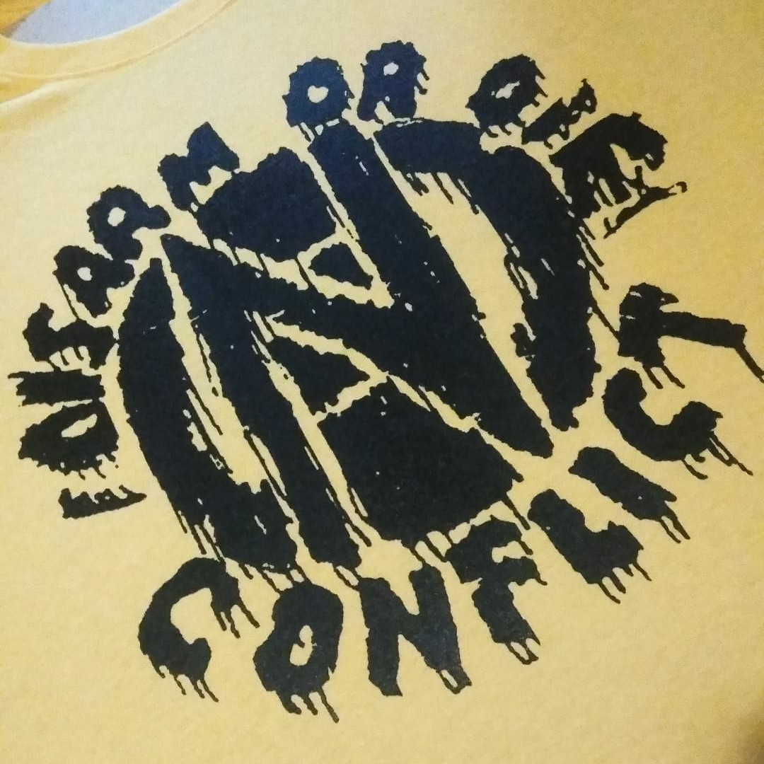 Product Image 1 - Conflict!  Disarm or die! Splatter/drip!  Youth XL/ Women's Small  #conflict #punkrock #conflictpunk #gism