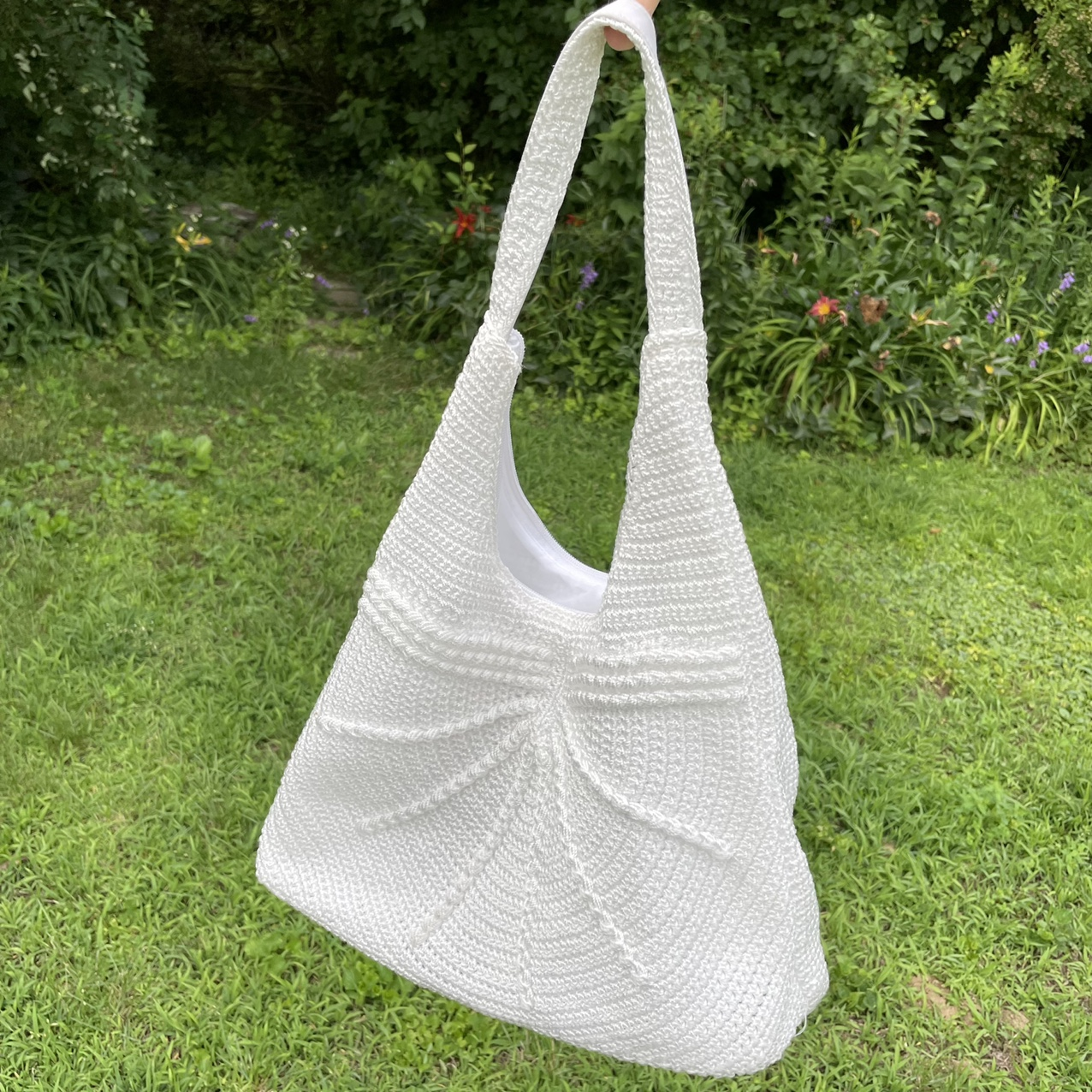 Product Image 1 - white crochet knit bag🤍 has a