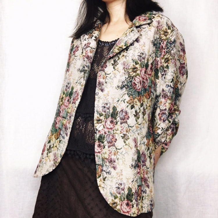 Product Image 1 - vintage fairy grunge floral blazer  by
