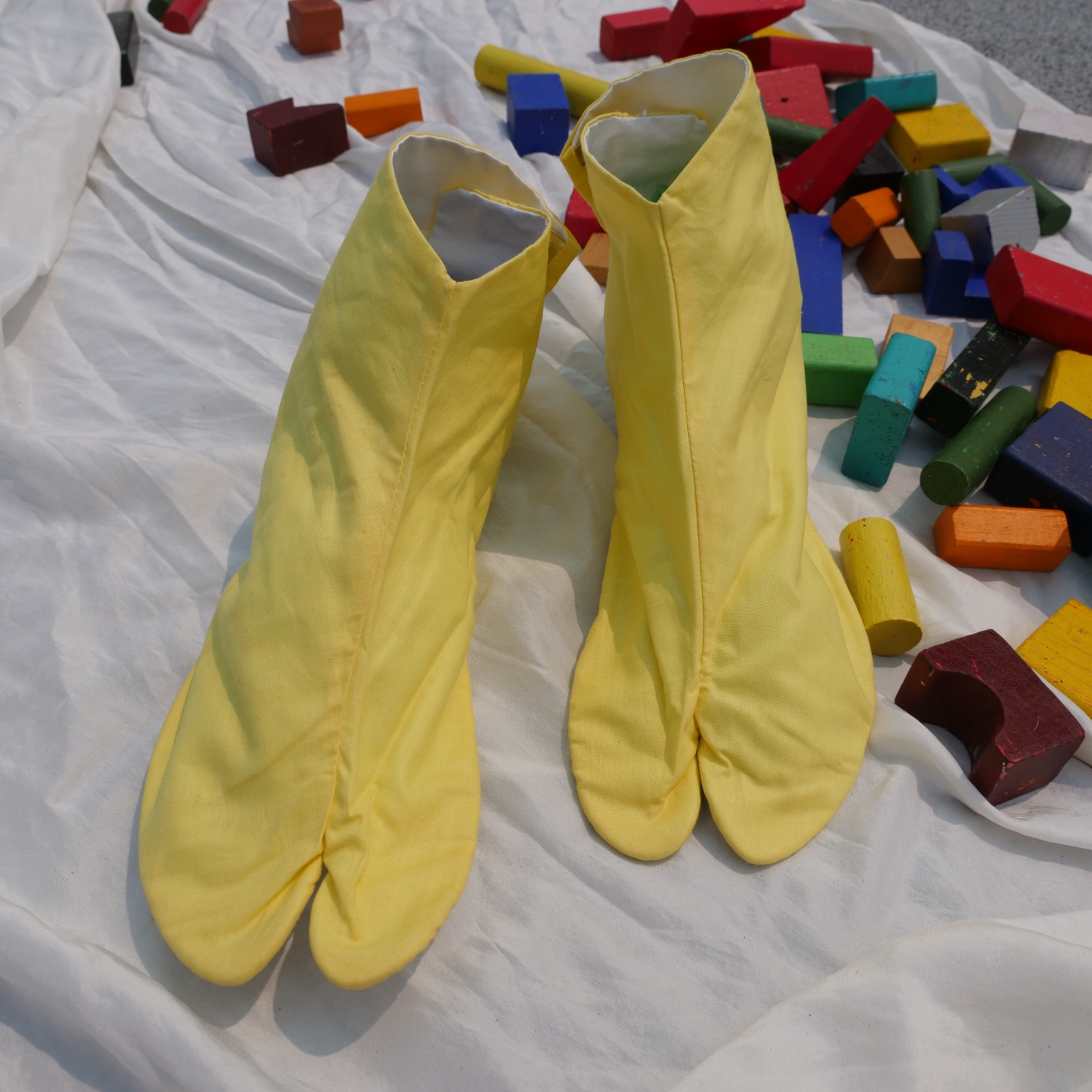Product Image 1 - Vintage yellow cotton tabi socks/slippers Made