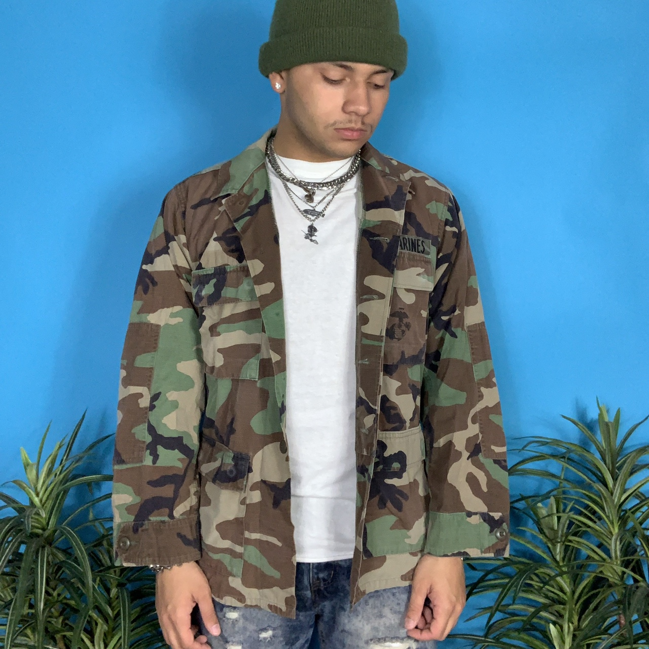 Product Image 1 - Military issued camouflage jacket. Fits