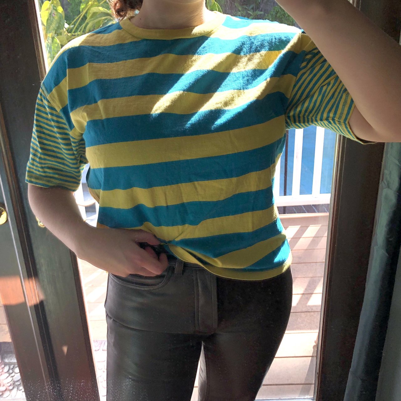 3f37d433be urban outfitters boston ringer striped t shirt (size and the - Depop