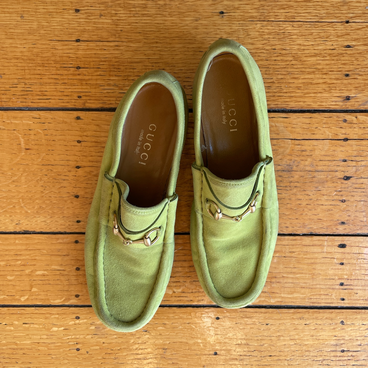 Product Image 1 - Gucci suede green loafers. Could