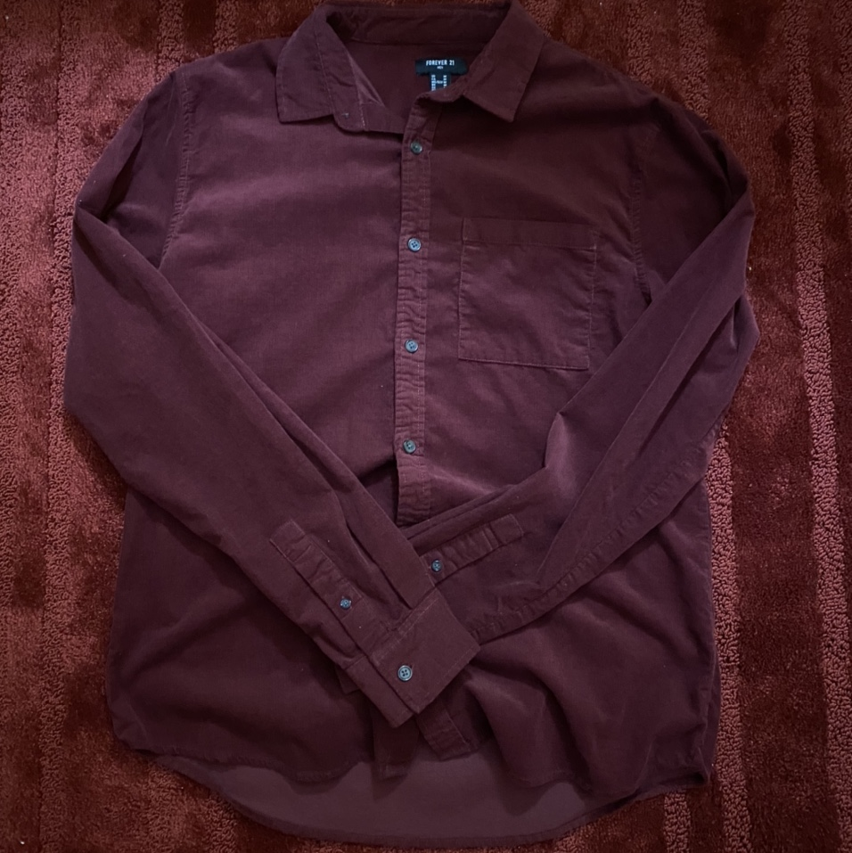 Product Image 1 - Forever 21 Maroon Button Up Size