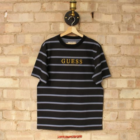 1c2fd0eaf5 @theprelovedhypestore. 3 days ago. United Kingdom, GB. Deadstock Guess  Oversized Striped Tshirt ...