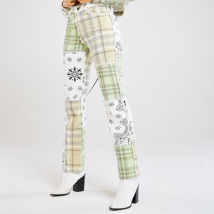 Product Image 1 - green jaded london patchwork jean