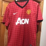 ee05f032110 Nike Manchester United Jersey. Mens Size Med. The A I G is G - Depop