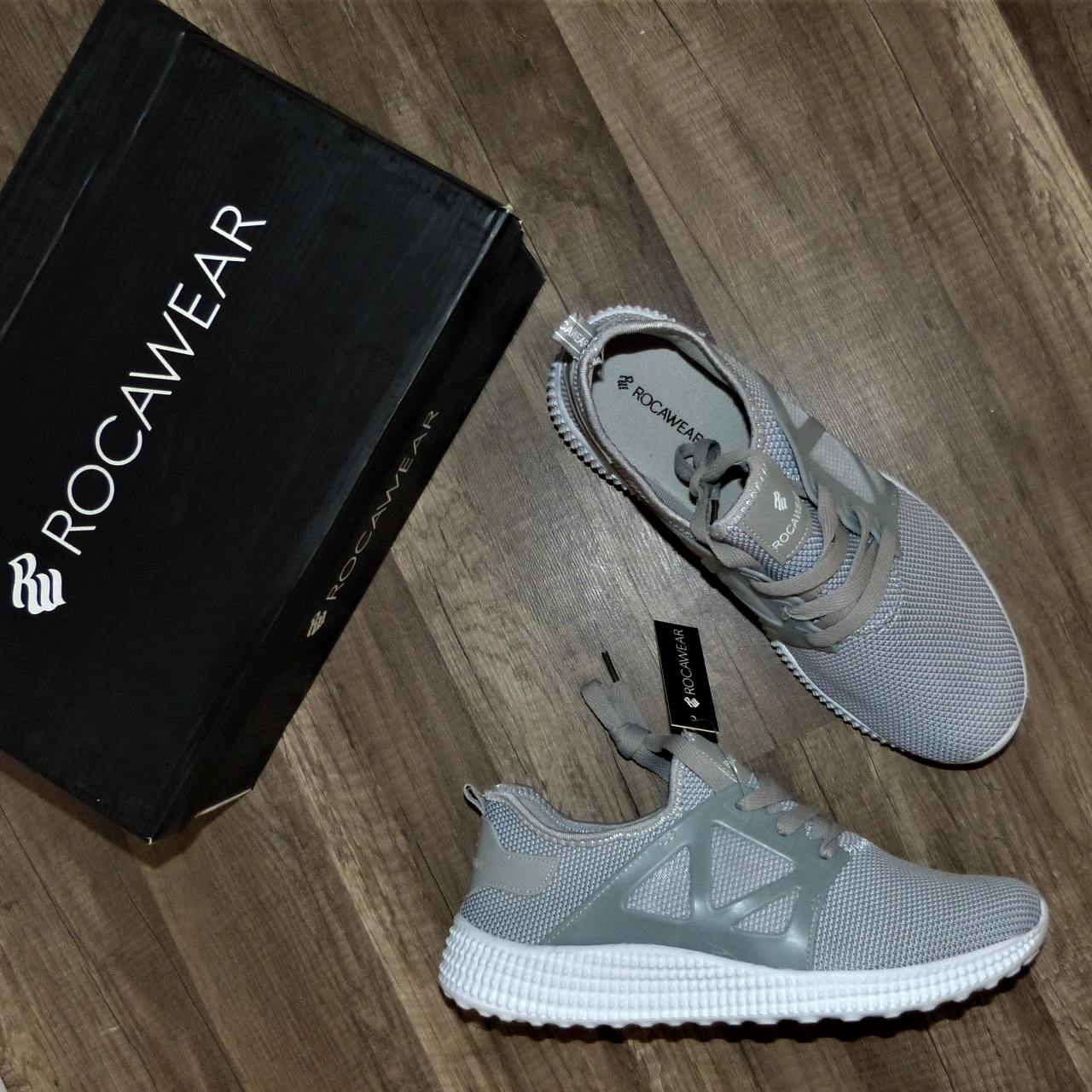 Product Image 1 - ROCAWEAR Gray Knit Shoes Sneakers