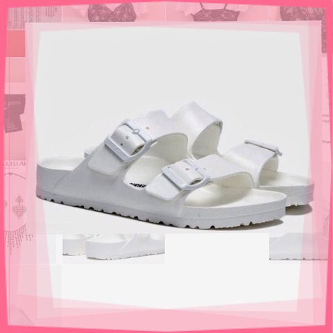 39fa6d54c NEW BIRKENSTOCK Arizona Jelly White Two Bar Mules The is a - Depop