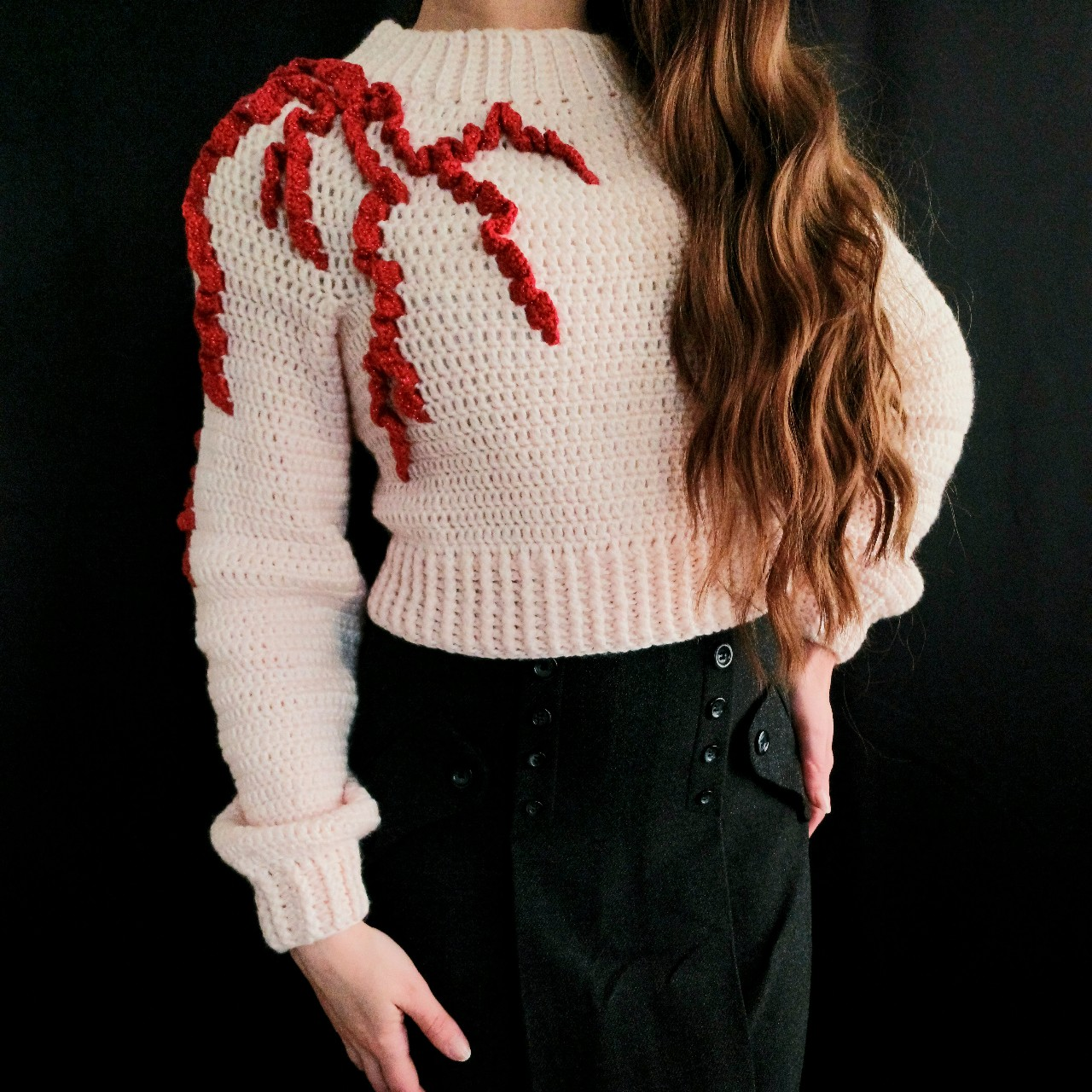 Product Image 1 - Cropped pale pink sweater, lightweight,