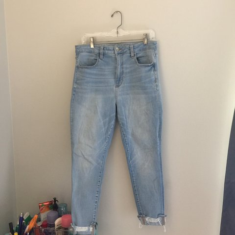 07fcd495e88 Light- Wash Super High Rise Jegging From American Eagle. of - Depop